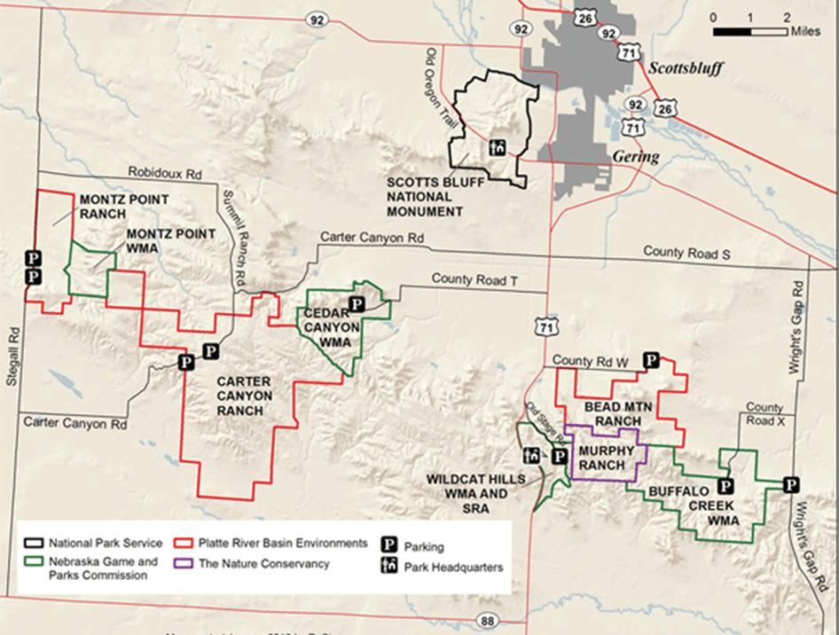 Wildcat Hills map